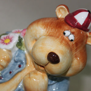 unknown Other - Silly Bear Ceramic Kid's Coin Bank Kids Room Decor